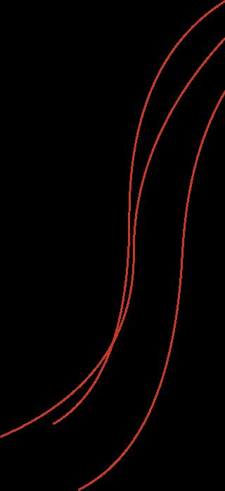 Linien von rechts oben nach links unten